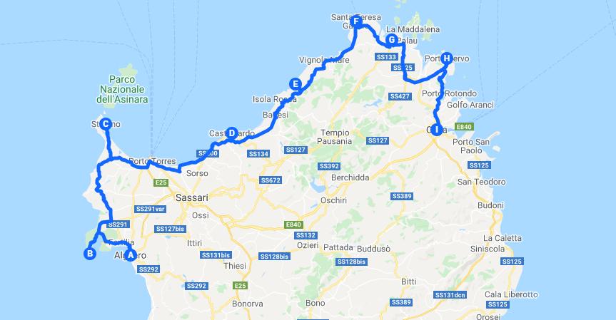 Itinerary in Sardinia Northern Coast