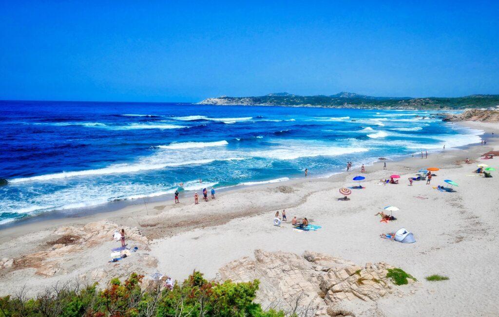 Sardinia beach during coronavirus