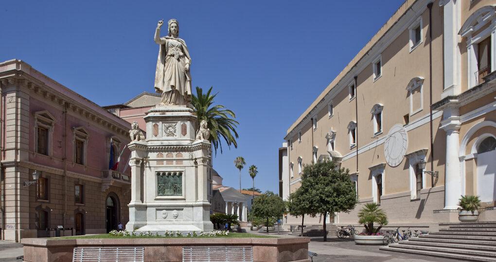 Oristano, piazza Eleonora d'Arborea